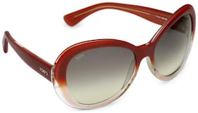 Tod's 100% UV Protected Over-sized Women Sunglasses - ( TO 91 44B|59 )