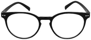 David Martin Black Round Full Rim Eyeglasses for Men - Pack of 1