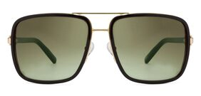 TOMMY HILFIGER TH2522 C1 57 MM GOLD WITH BLACK MEN SQUARE Sunglasses