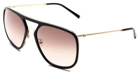 TOMMY HILFIGER TH2539 C3 60 MM GOLD WITH BLACK MEN SQUARE Sunglasses