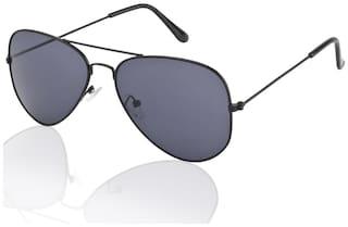 V-Smart Black Aviator Sunglass (UV Protected)(Medium Size)