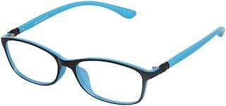 Vast Black Rectangle Full Rim Eyeglasses for Men - 1