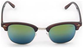 Vast Cool !! Clubmaster High Fashion Unisex Wayfarer Sunglasses / Glares / Shades (Brown Mirror)