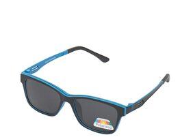 Vast Polarized Magnetic Clip on Sunglasses Plus Frame (P004BlkBlue|51|Grey Lens )