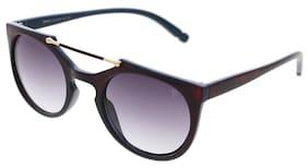 Vast UV Protection Designer Round Frame Unisex Sunglasses(96005Red|Grey Lens)