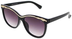 Vast UV Protection Designer Cat Eye Women Sunglasses(96022Gld|Grey Lens)