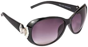 Vespl Black Oval Frames Sunglasses
