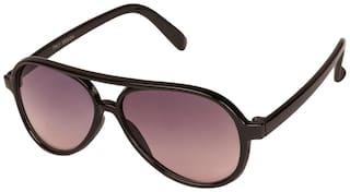 VESPL black Full Rim Aviator UV 400 Protected Small (Size-50) Kids Sunglasses - V-7318