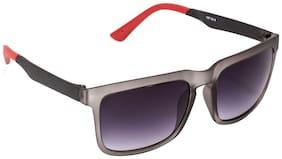Vespl Grey Square Frames Sunglasses
