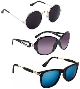 Vitoria Fashionable Sunglasses For Women & Girls (Pack Of 3)