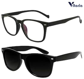 Vitoria Stylish & Fashionable Sunglasses With Box For Men Women Boys & Girls (Pack Of 2)