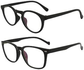 Men Oval Frames Mirrored Lens