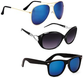 Vitoria Stylish & Fashionable Sunglasses With Box For Women & Girls (Pack Of 3)
