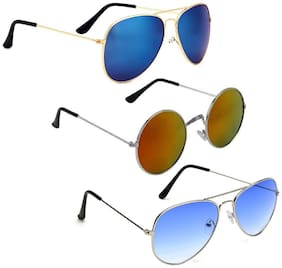 Vitoria Stylish & Fashionable Sunglasses With Box For Men & Boys (Pack Of 3)
