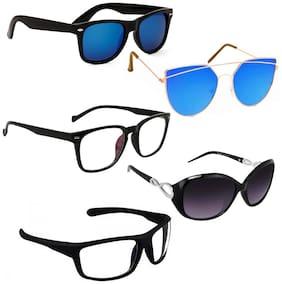 Vitoria Stylish & Fashionable Sunglasses With Box For Women & Girls (Pack Of 5)