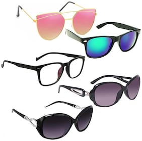 Vitoria Stylish & Fashionable Sunglasses With Box For Women & Girls (Pack Of 5)