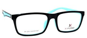 X-Ford Xf-255 Size 53 Black Blue Wayfarer Eyeglasses