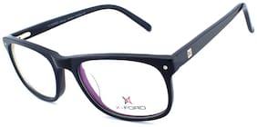 X-ford Black Rectangle Full Rim Eyeglasses for Men