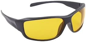 Yellow Lens Black Frame Night Vision Driving Sunglasses