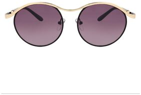 Zyaden Black Round Sunglasses For Women