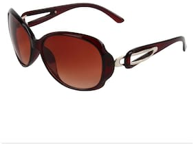Zyaden Brown Oval Sunglasses For Women