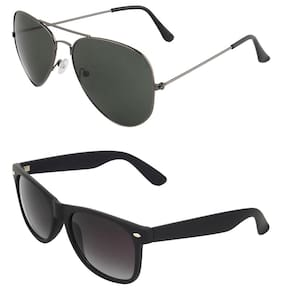 Zyaden Combo of 2 Sunglasses Aviator & Wayfarer Sunglasses
