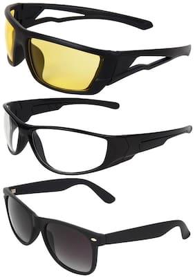 Zyaden Combo of 3 Wrap Around Sunglasses