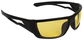 Zyaden Yellow Wrap Around Sunglasses ( NV-53 )