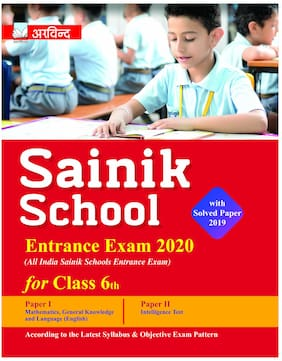 ARVIND Sainik School for Class 6th Entrance Exam 2020 Guide Book With Best Quality Study Material