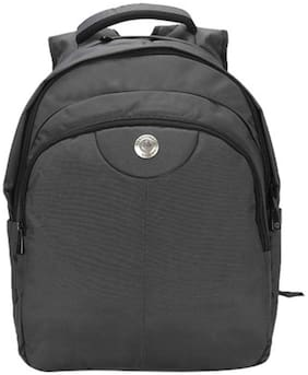 Harissons Grey Polyester Backpack