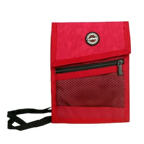 Viaggi Travel Neck Pouch Red