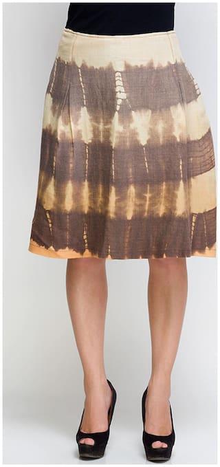 Oxolloxo Solid Skirt - Brown