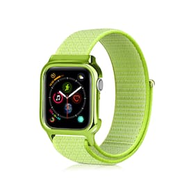 40/44mm Unique Woven Nylon Watch Band Strap Loop +Frame For Apple Watch iWatch 4