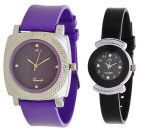 A R Sales Combo Of 2 Ladies Designer Analog Watch