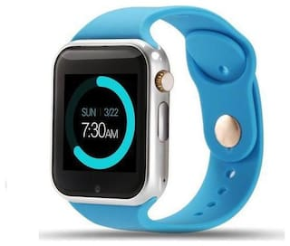 A1 Bluetooth Smart Wrist Watch with Camera;Sim & TF Card Support for Android;iOS & Smart Phone Blue Smartwatch By Crystal Digital