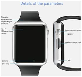 A1 Bluetooth Smart Watch With Camera & Sim Slot For Android & IOS, SILVER