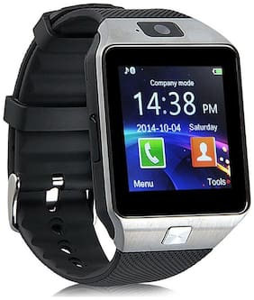Aberdeen D1000 Bluetooth Smartwatch with FREE ScreenGuard Silver Android watch with GSM SIM  Camera  Fitness Tracker and upto 32GB expandable memory
