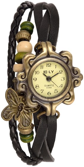 Access-o-risingg Black Butterfly Charm Watch