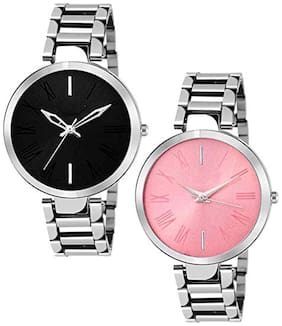 Acnos Highest Premium Quality Steel Analog Watches Combo Pack Of - 2