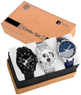 Acnos Special Super Quality Analog Watches Combo Look Like Handsome For Boys And Mens Pack Of - 3(436-437-24)