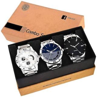 ACNOS steel-436-437-3combo Men White - Analog Watch