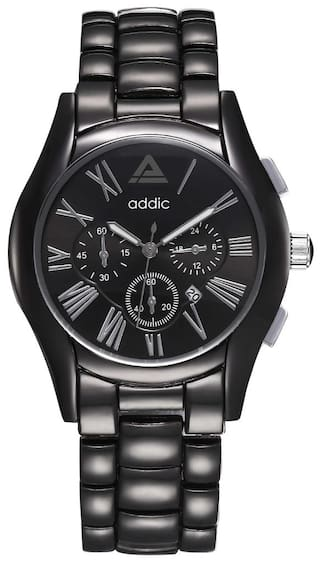 fbf6dca5431 Buy Addic Elegenant   Classy Black Dial Watch For Men s   Boys ...