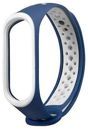 Adlyn Mi 3 Replacement Sports Band Strap For Women And Men (Navy Blue)