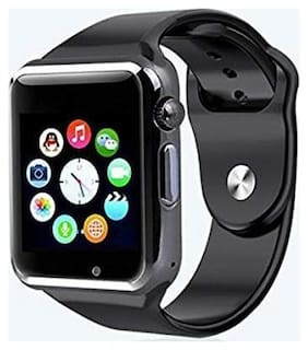 Adlyn W-A2N Bluetooth Smart Watch, Touchscreen Smart Wrist Watch Smartwatch Phone Fitness Tracker with SIM SD Card Camera Pedometer Compatible iOS iPhone Android for Women Girls (Black)