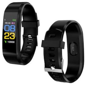 AFRODIVE FITNESS SMART BAND FOR ALL MOBILES (Black Strap;Size : REGULAR)