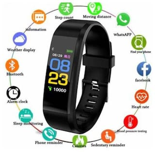 AFRODIVE ID 115 Smart Bracelet Fitband With Heart Rate Monitor OLED Display Waterproof Sports Health Activity Fitness Tracker
