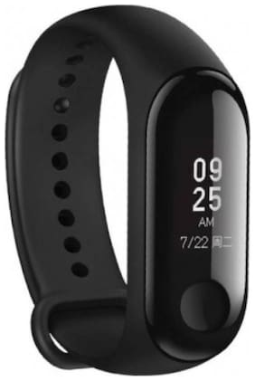 AfroDive M3 Heart Rate Monitor Bluetooth enabled Sleep Monitor Smartband Android iOS Fitness Band (Black;Pack of 1)