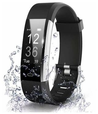 AFRODIVE Smart Band ID115 Bluetooth Pedometer Fitness Tracker Smart Watch for Android IOS