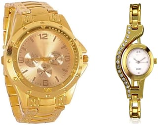 Aivor Latest Analog Watch For Couple And Buy 1 Get Women Diamond Fancy Analog Watch Free Free Free Rcgold
