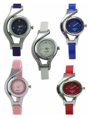 Aivor Multicolour Analog Watch - Pack Of 5